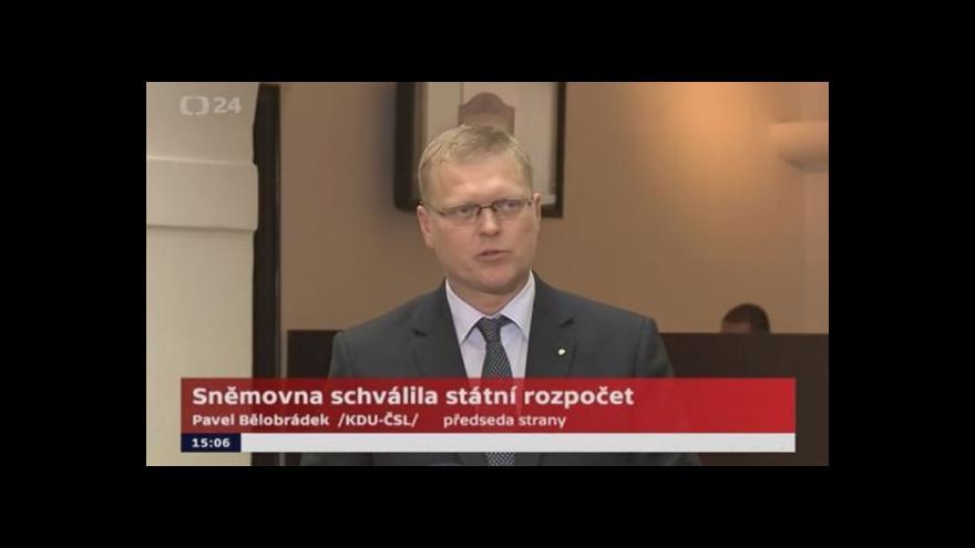 Video Bělobrádek (KDU-ČSL): Rozpočet není ideální, ale to není nikdy