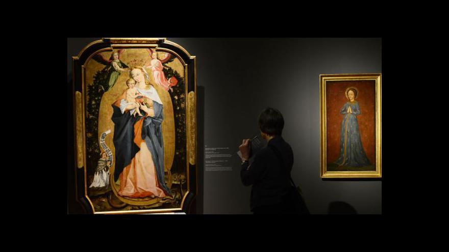 Video Pražský hrad vystavuje gotické madony a veraikony