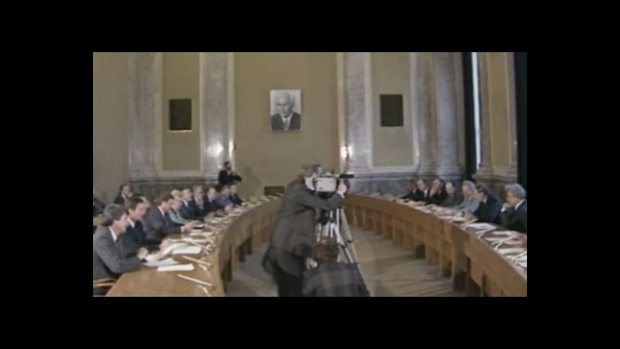 Video Televizní noviny 10. 12. 1989: Představení vlády národního porozumění