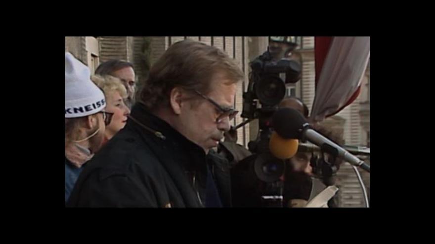 Video Projev Václava Havla u příležitosti jmenování nové vlády