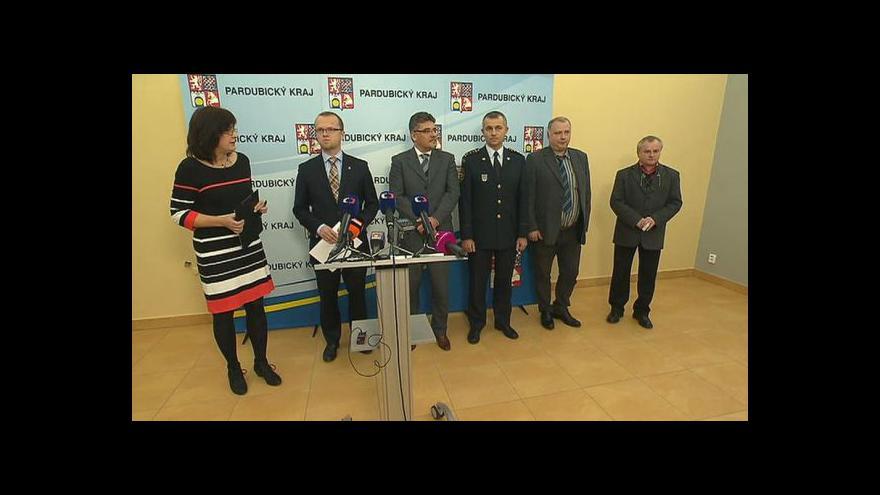 Video Bezpečnostní rada k muničnímu skladu v Květné