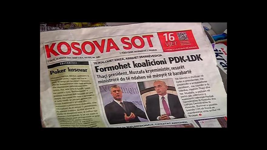 Video Ustavující zasedání kosovského parlamentu