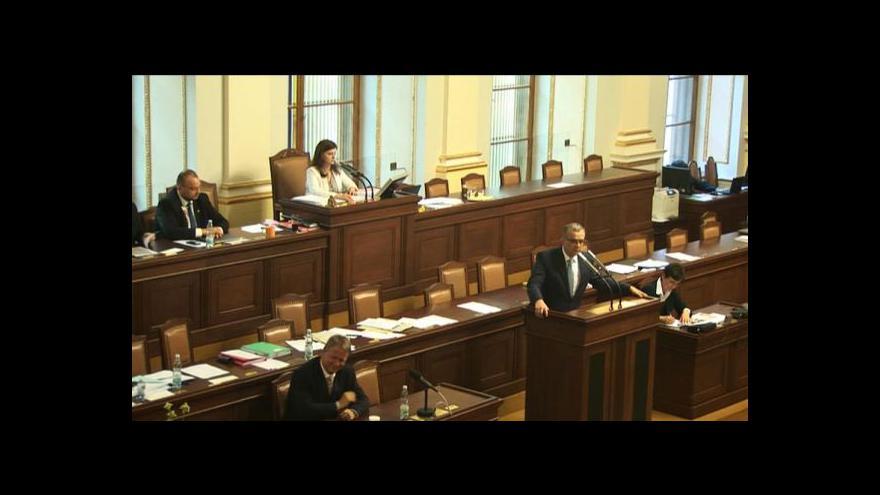 Video Výtky Miroslava Kalouska k řízení sněmovny Jaroslavou Jermanovou