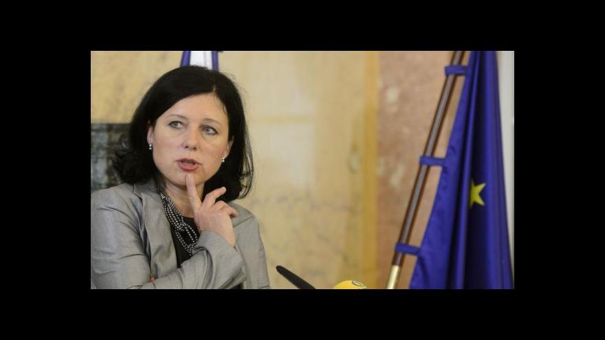 Video Komentář eurokomisařky Věry Jourové