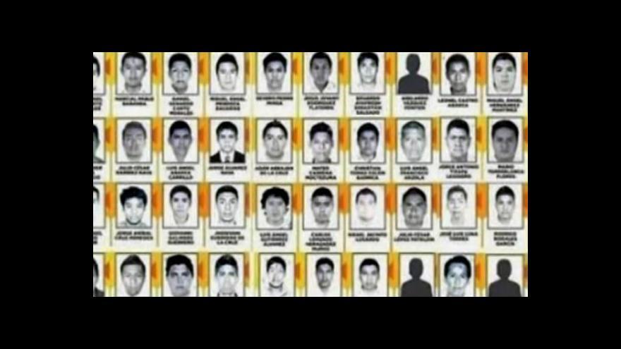 Video V Mexiku identifikovali ostatky prvního z 43 pohřešovaných studentů