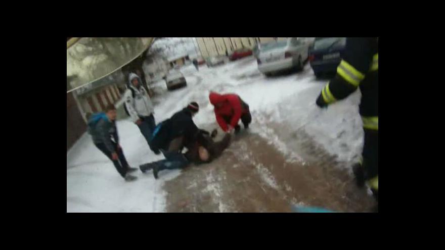Video Žáci 8. třídy zachraňovali muže s infarktem (záběry HZS JMK)