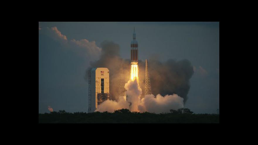 Video Orion se poprvé vydal do vesmíru
