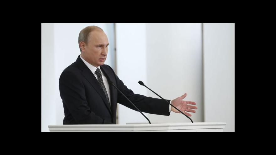 Video Události, komentáře k Putinově projevu