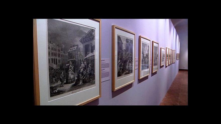 Video Předchůdce komiksu karikuje v Národní galerii společnost