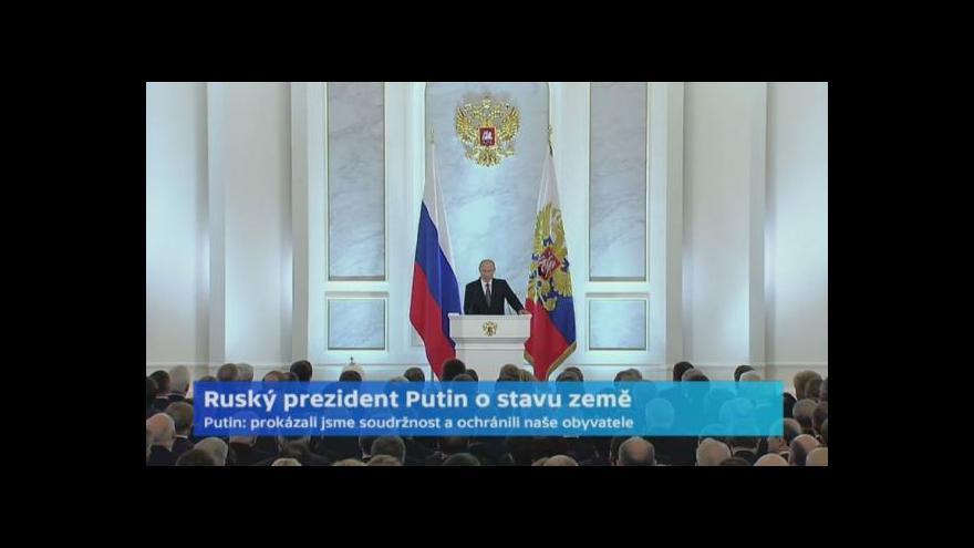 Video Ruský prezident Putin o stavu země