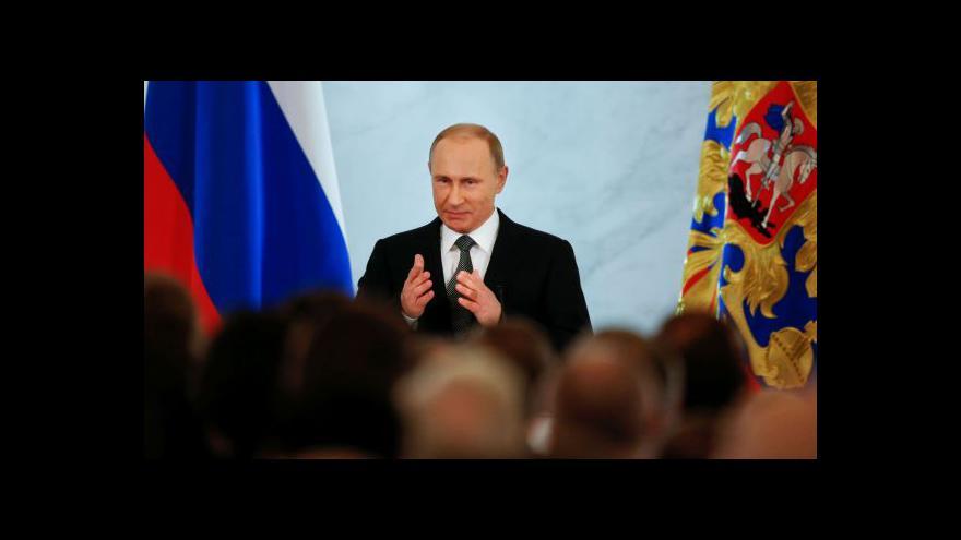 Video Putin: Není možné si podmanit Rusko vojensky