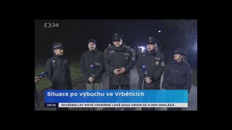 Video Pokud se situace nezhorší, lidé ve Vrběticích se domů vrátí zítra dopoledne