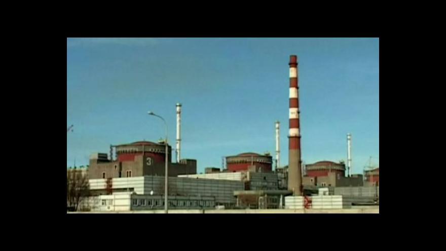 Video Zpravodaj ČT k nehodě v jaderné elektrárně v Záporoží