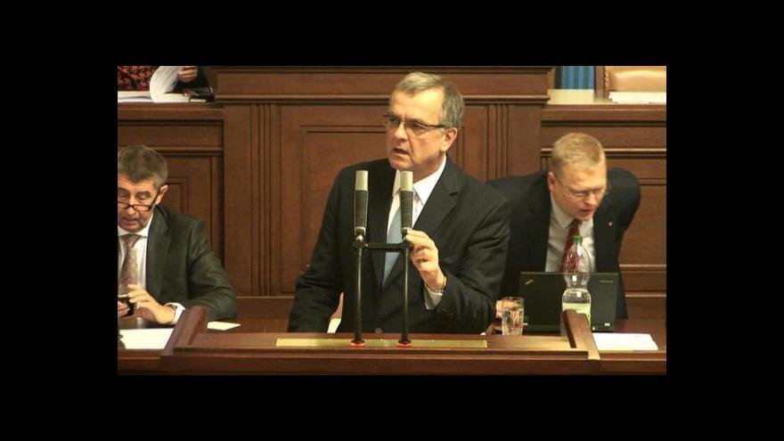 Video Situaci ve Vrběticích je nutné nepodcenit, znělo sněmovnou