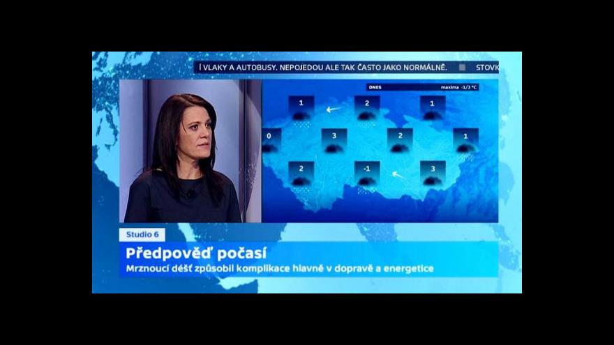 Video Předpověď počasí: Oteplí se od východu