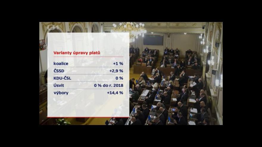Video Sněmovna by mohla o platech hlasovat v pátek