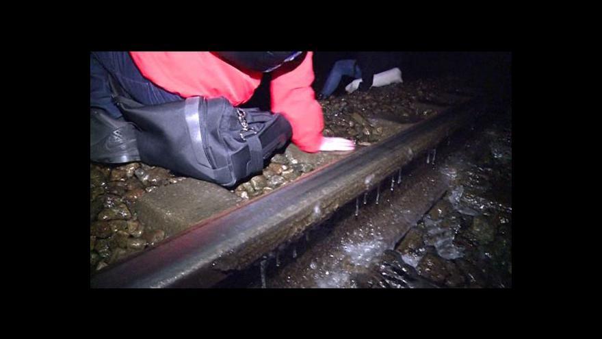 Video Ledovka uvěznila v Přerově stovky cestujících