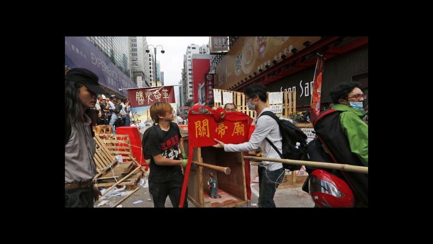 Video Zpravodajka ČT k Hongkongu: Protestující jsou už unavení