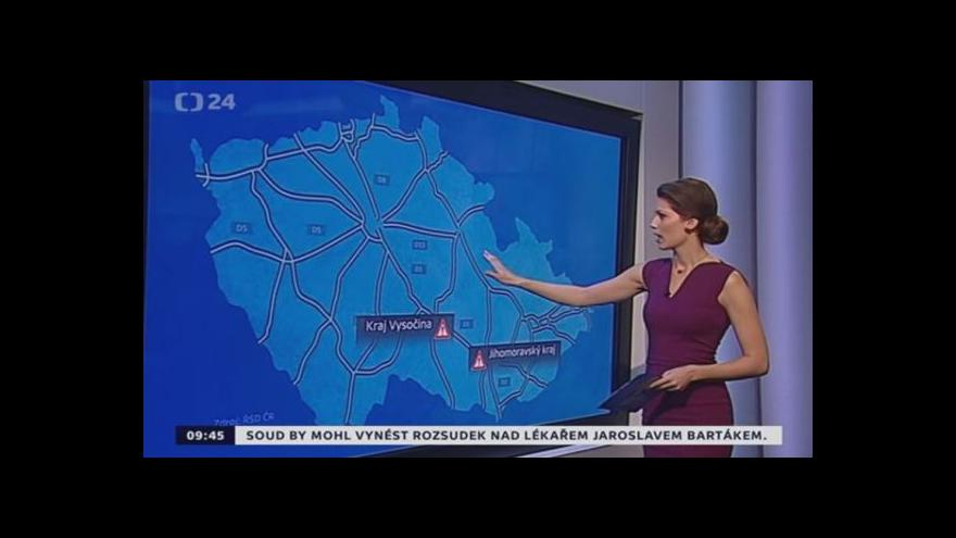 Video Aktuální dopravní situace 09:45