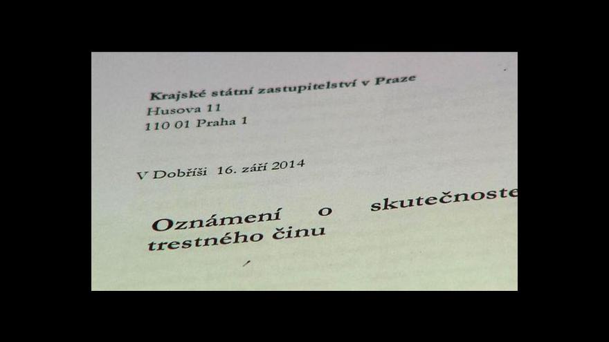 Video O svědky v Rittigových kauzách se zajímá policie