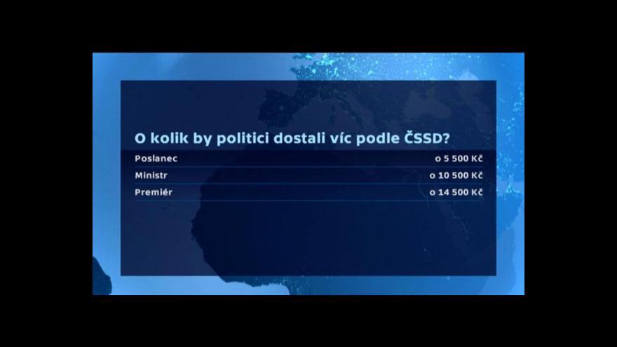 Video Další varianta, jak zvyšovat platy politiků