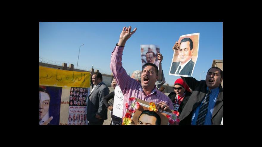 Video Soud: Mubarak nevinen, jeho příznivci slaví
