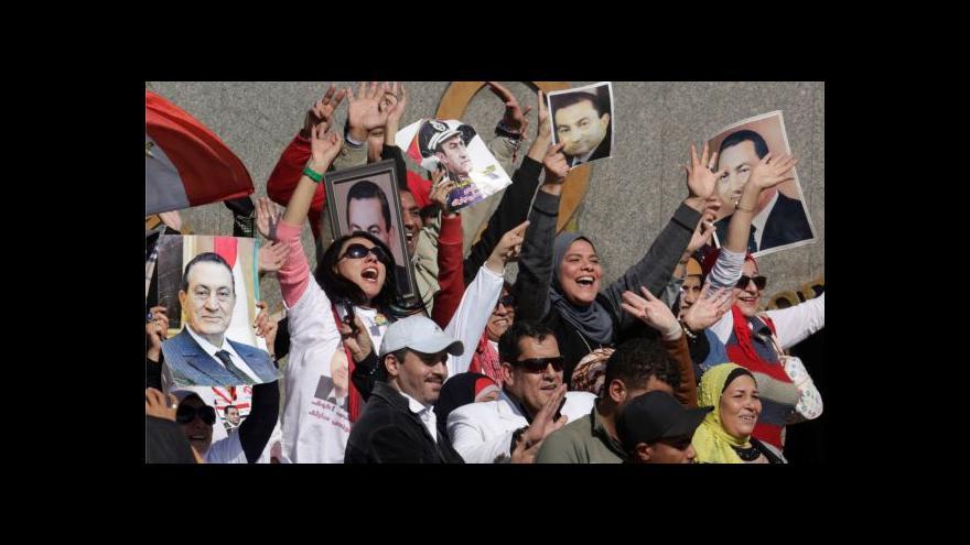Video Vzkaz Mubarakovi od jeho stoupenců: Nikdo tě nemůže odstranit