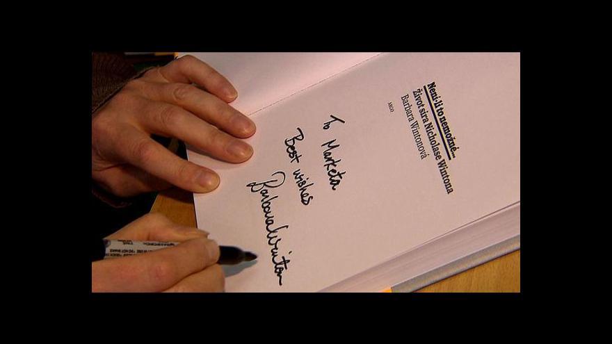 Video Barbara Wintonová představila knihu o svém otci