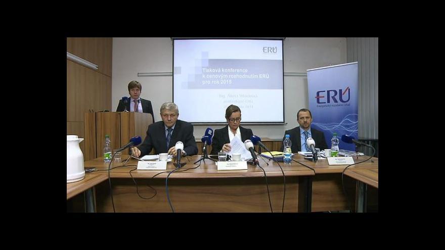 Video Brífink ERÚ k cenám energií v roce 2015