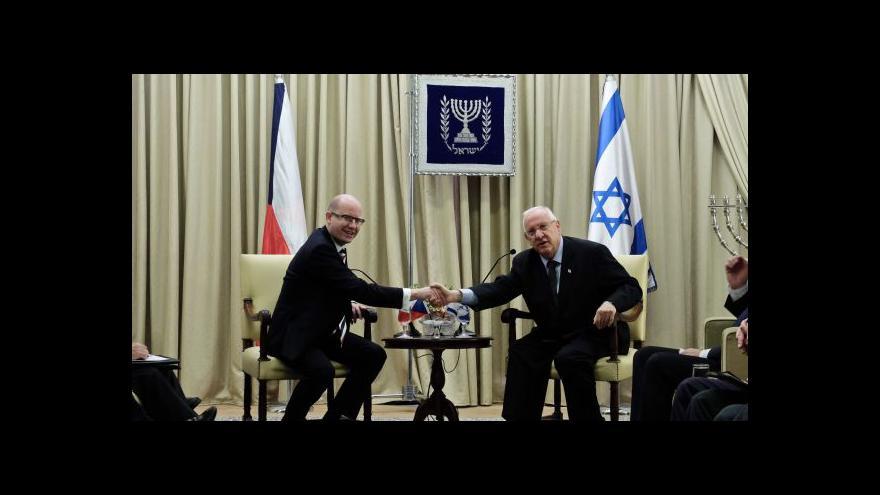 """Video Události ČT: """"Výjimečné"""" vztahy mezi Českem a Izraelem"""