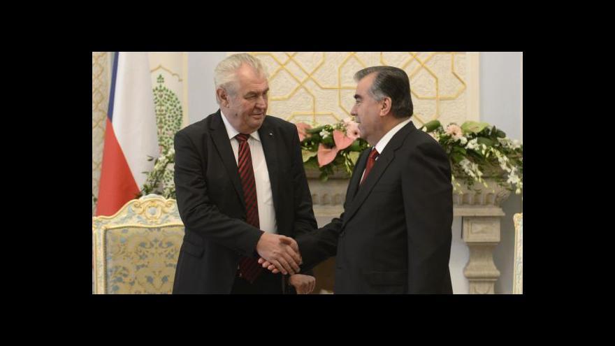 Video Odborník: Zeman v Tádžikistánu? Standardní diplomacie