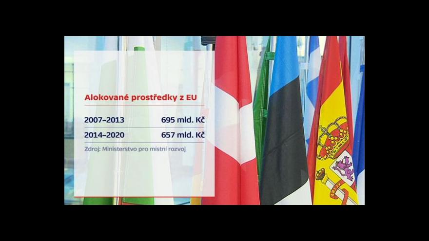 Video Události: Česko nedočerpalo 12 miliard z eurofondů
