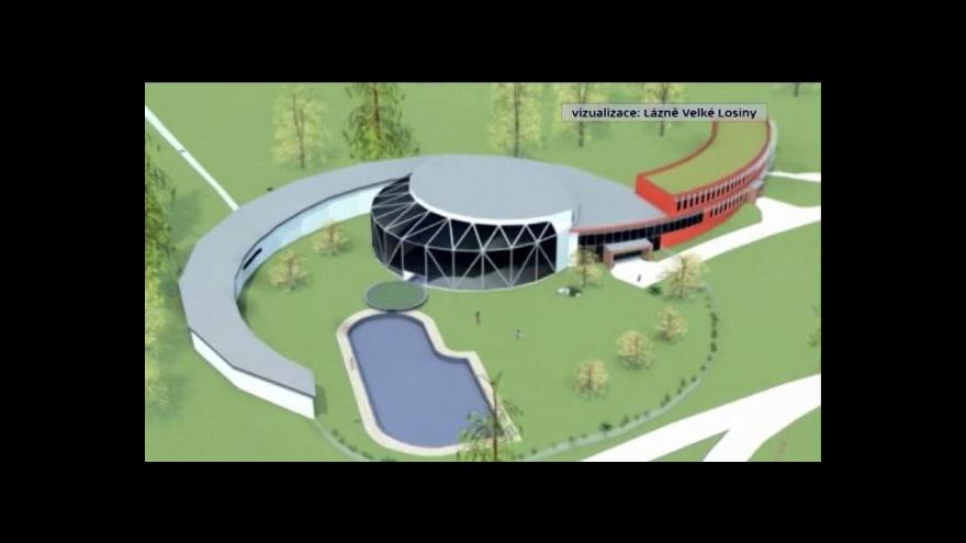 Video Stavba termálního park ve Velkých Losinách finišuje