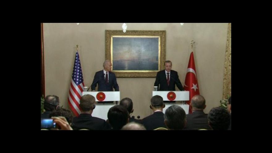 Video Joe Biden pochválil turecký postoj k IS