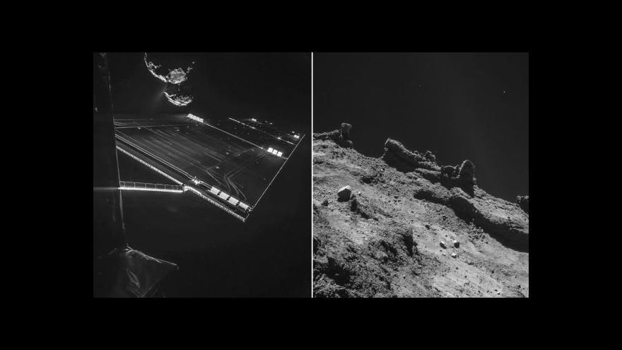 Video Philae stačila poslat vesmírné zvuky a obrázky