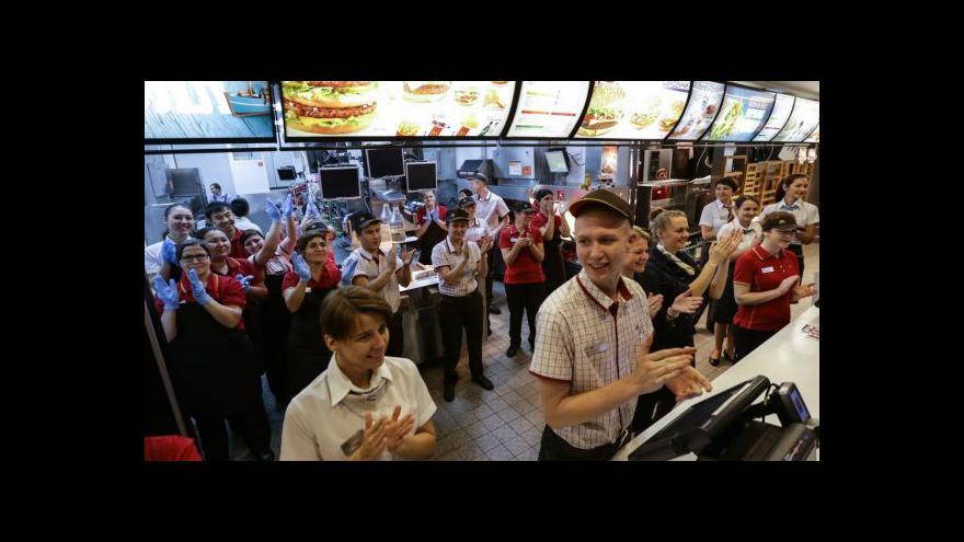 Video Moskvané mohou zase vyrazit do legendárního McDonaldu