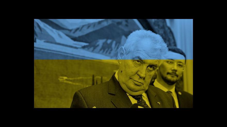 Video Kyjevu se nelíbí některé Zemanovy výroky k Ukrajině