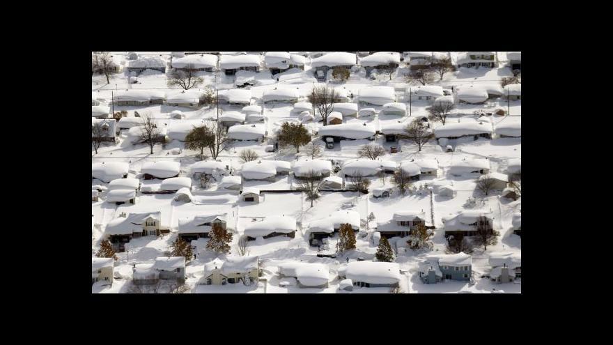 Video Horizont ČT24 ke sněhové kalamitě v USA