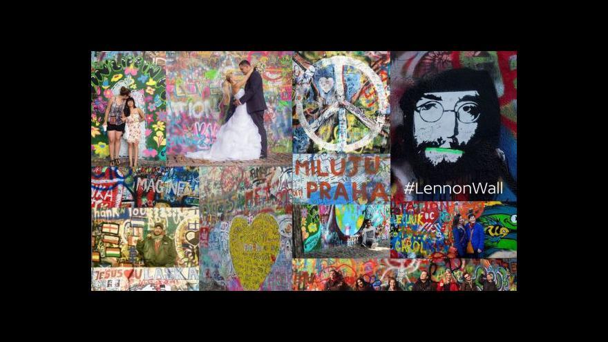 Video Podívejte se, jak vypadá Lennonova zeď