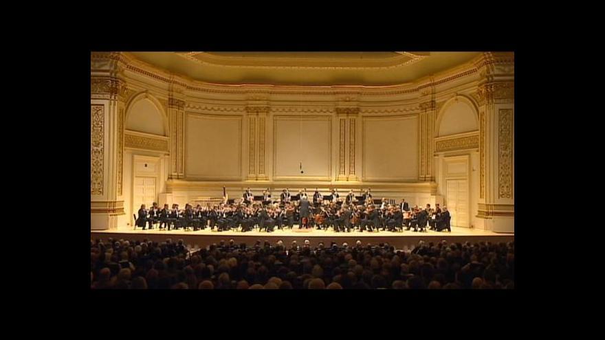 Video Filharmonie vystoupila ve vyprodané Carnegie Hall