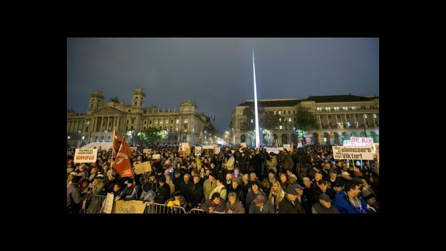 Video Horizont: Maďaři znovu protestovali proti Orbánovi