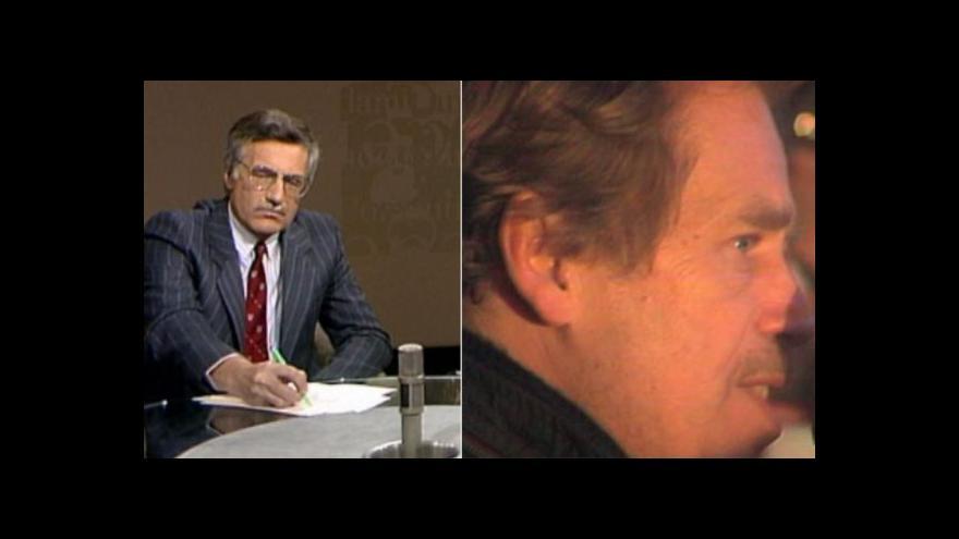 Video 168 hodin: Havel a Klaus v listopadu 1989