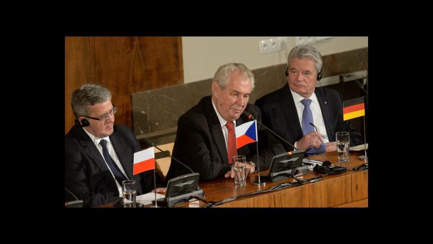Video Události: Prezidenti středoevropských zemí na Právnické fakultě UK