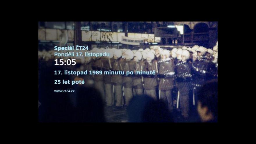 Video Upoutávka: ČT24 připomíná Listopad 1989