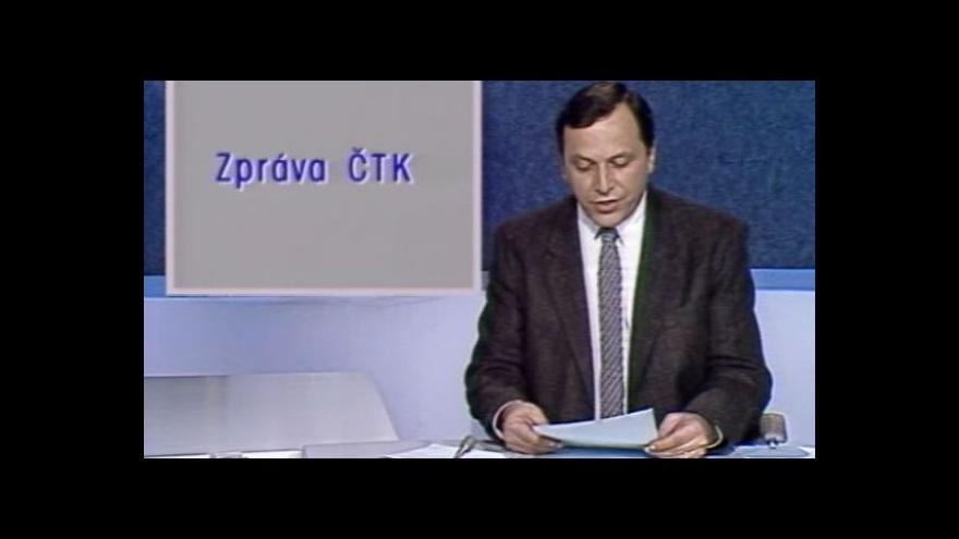 Video Televizní noviny 18. listopadu 1989