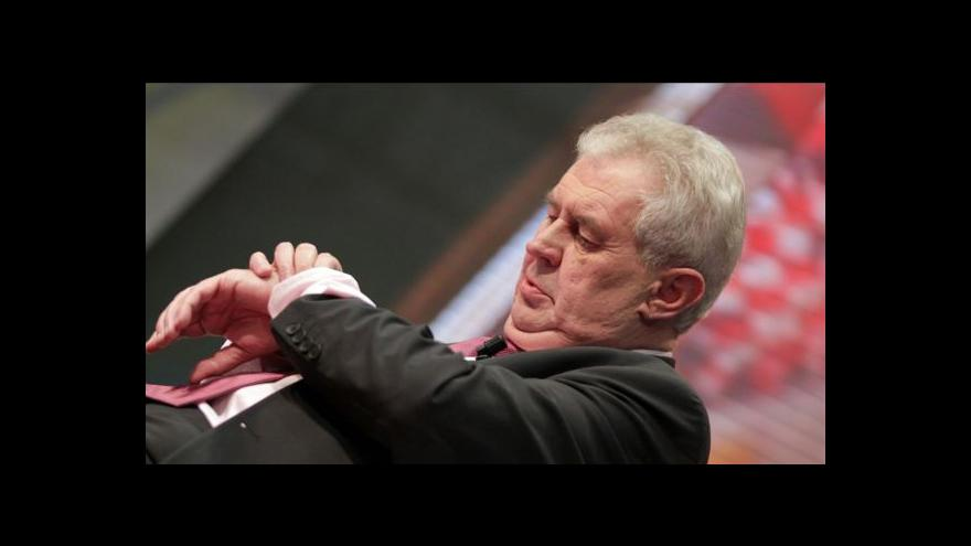 Video Miloš Zeman v Moravskoslezském kraji