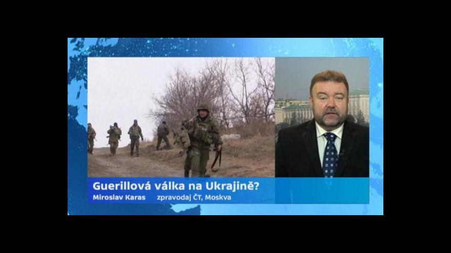 Video Zpravodaj ČT: Separatisté ovládají 300kilometrový úsek hranice s Ruskem