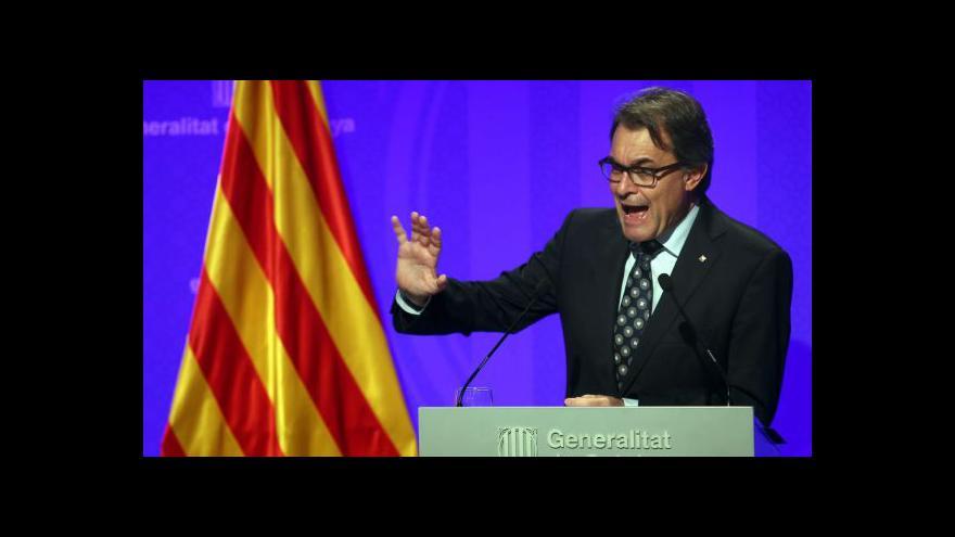 Video Katalánský premiér hledá podporu ve světě