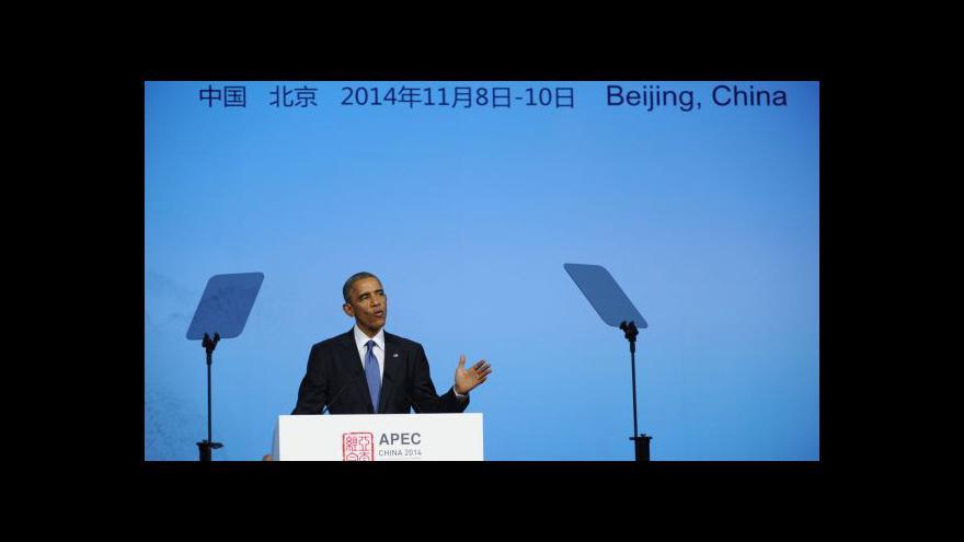 Video Obama: USA budou Číně nadále připomínat lidská práva