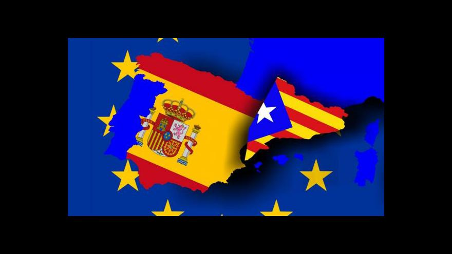 Video Zpravodaj ČT: Katalánci o sobě chtějí rozhodnout stejně jako Skotové